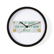 Hugged PIO Wall Clock