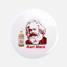 """Red Bliss: The People's Beer 3.5"""" Button"""