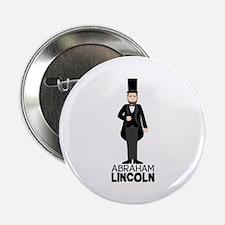 "ABRAHAM LINCON 2.25"" Button"