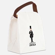 ABRAHAM LINCON Canvas Lunch Bag