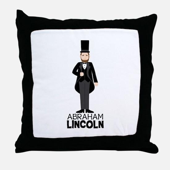 ABRAHAM LINCON Throw Pillow