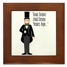 FOUR SCORE AND SEVEN YEARS AGO... Framed Tile