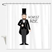 HONEST ABE Shower Curtain