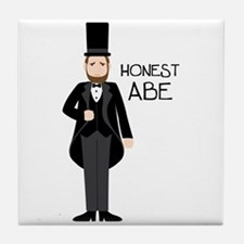 HONEST ABE Tile Coaster