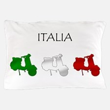 Italian Scooters Pillow Case