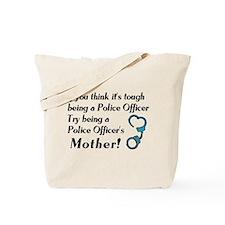 Tough Police Mom Tote Bag