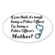 Tough Police Mom Oval Decal