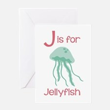 J Is For Jellyfish Greeting Cards