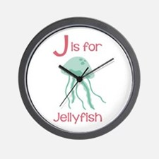 J Is For Jellyfish Wall Clock