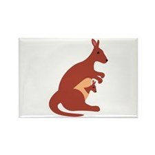 Kangaroo Animal Magnets