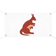 Kangaroo Animal Banner
