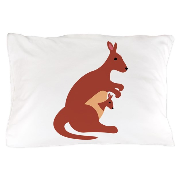 Kangaroo Animal Pillow Case by Hopscotch9