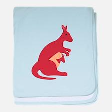 Kangaroo Animal baby blanket