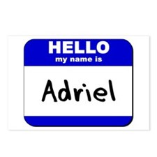 hello my name is adriel  Postcards (Package of 8)