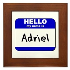 hello my name is adriel  Framed Tile