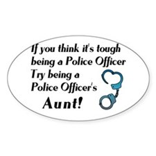 Tough Police Aunt Oval Decal