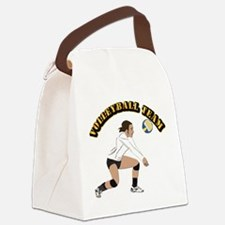 Volleyball Team Canvas Lunch Bag