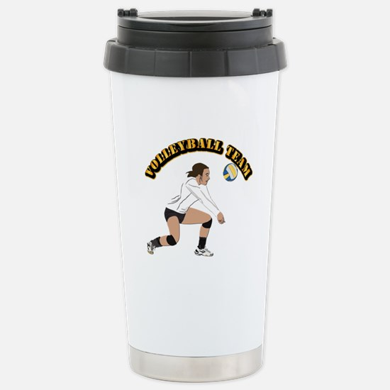 Volleyball Team Stainless Steel Travel Mug