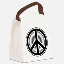 Vintage Peace symbol Canvas Lunch Bag