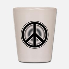 Vintage Peace symbol Shot Glass
