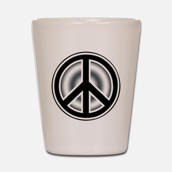 Vintage Peace symbol Shot Glass