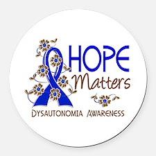Hope Matters 3 Dysautonomia Round Car Magnet