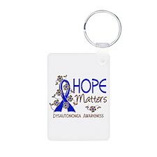 Hope Matters 3 Dysautonomi Aluminum Photo Keychain