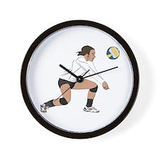 Volleyball No Text Wall Clock