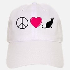 Peace Love Cats Baseball Baseball Baseball Cap