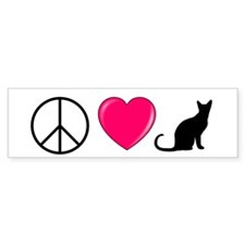 Peace Love Cats Bumper Bumper Sticker