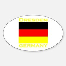 Dresden, Germany Oval Decal