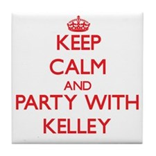 Keep calm and Party with Kelley Tile Coaster
