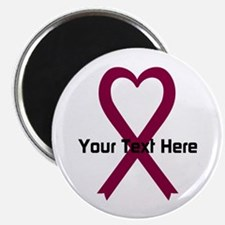 """Personalized Burgundy Ribbo 2.25"""" Magnet (10 pack)"""