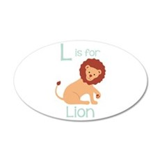 L Is For Lion Wall Decal
