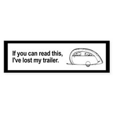 Lost Trailer Bumper Bumper Sticker