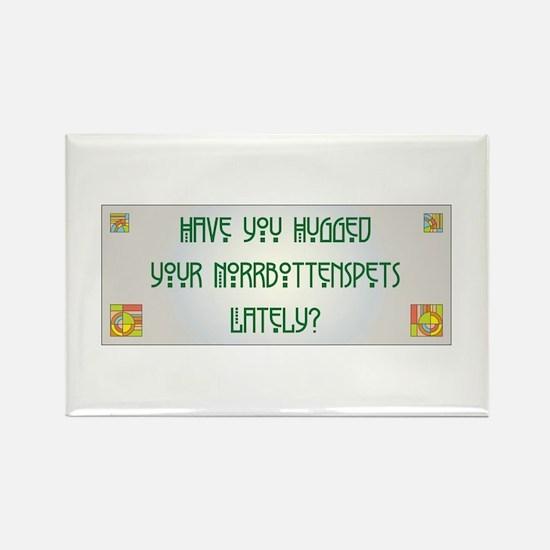 Hugged Norrbottenspets Rectangle Magnet (100 pack)