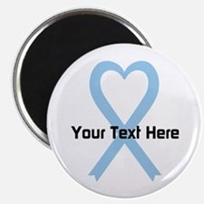 """Personalized Light Blue Rib 2.25"""" Magnet (10 pack)"""