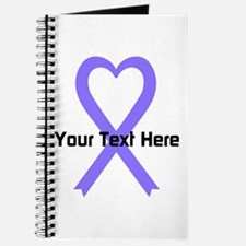 Personalized Lavender Ribbon Heart Journal