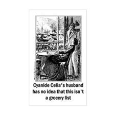 Cyanide Celia Rectangle Bumper Stickers