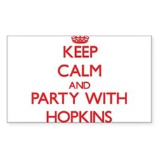 Keep calm and Party with Hopkins Decal