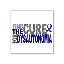 "Find the Cure Dysautonomia Square Sticker 3"" x 3"""
