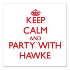Keep calm and Party with Hawke Square Car Magnet 3