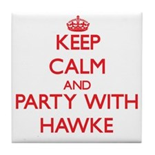 Keep calm and Party with Hawke Tile Coaster