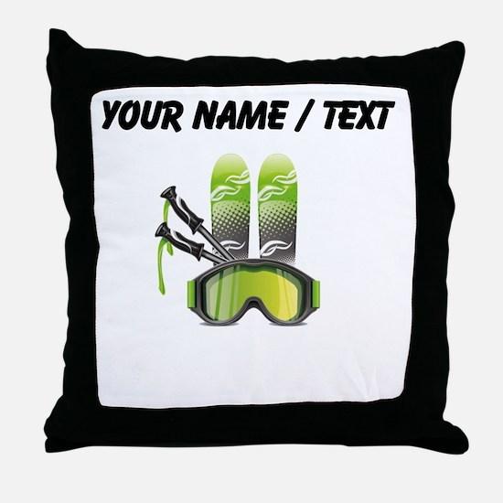 Custom Ski Gear Throw Pillow