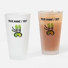 Custom Ski Gear Drinking Glass