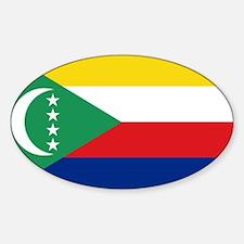 Flag Comoros Oval Decal