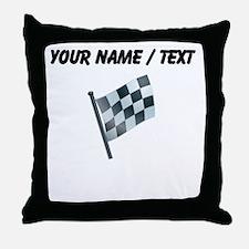 Custom Checkered Flag Throw Pillow