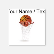 Custom Basketball Hoop Sticker