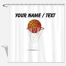 Custom Basketball Hoop Shower Curtain