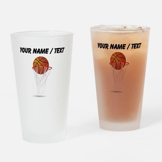 Custom Basketball Hoop Drinking Glass